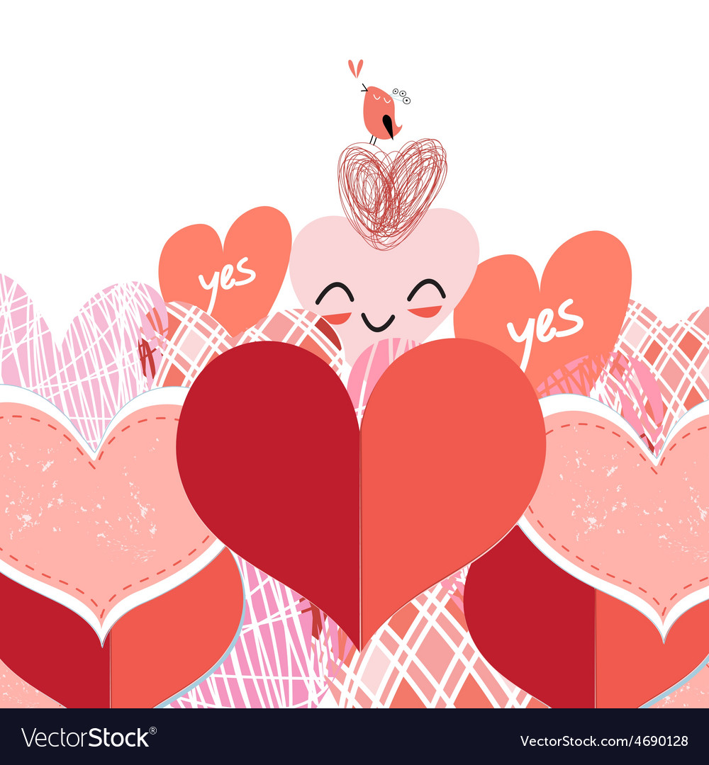 Bright lovers heart vector | Price: 1 Credit (USD $1)