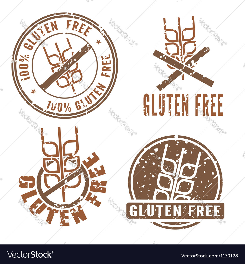 Gluten free stamps vector | Price: 1 Credit (USD $1)