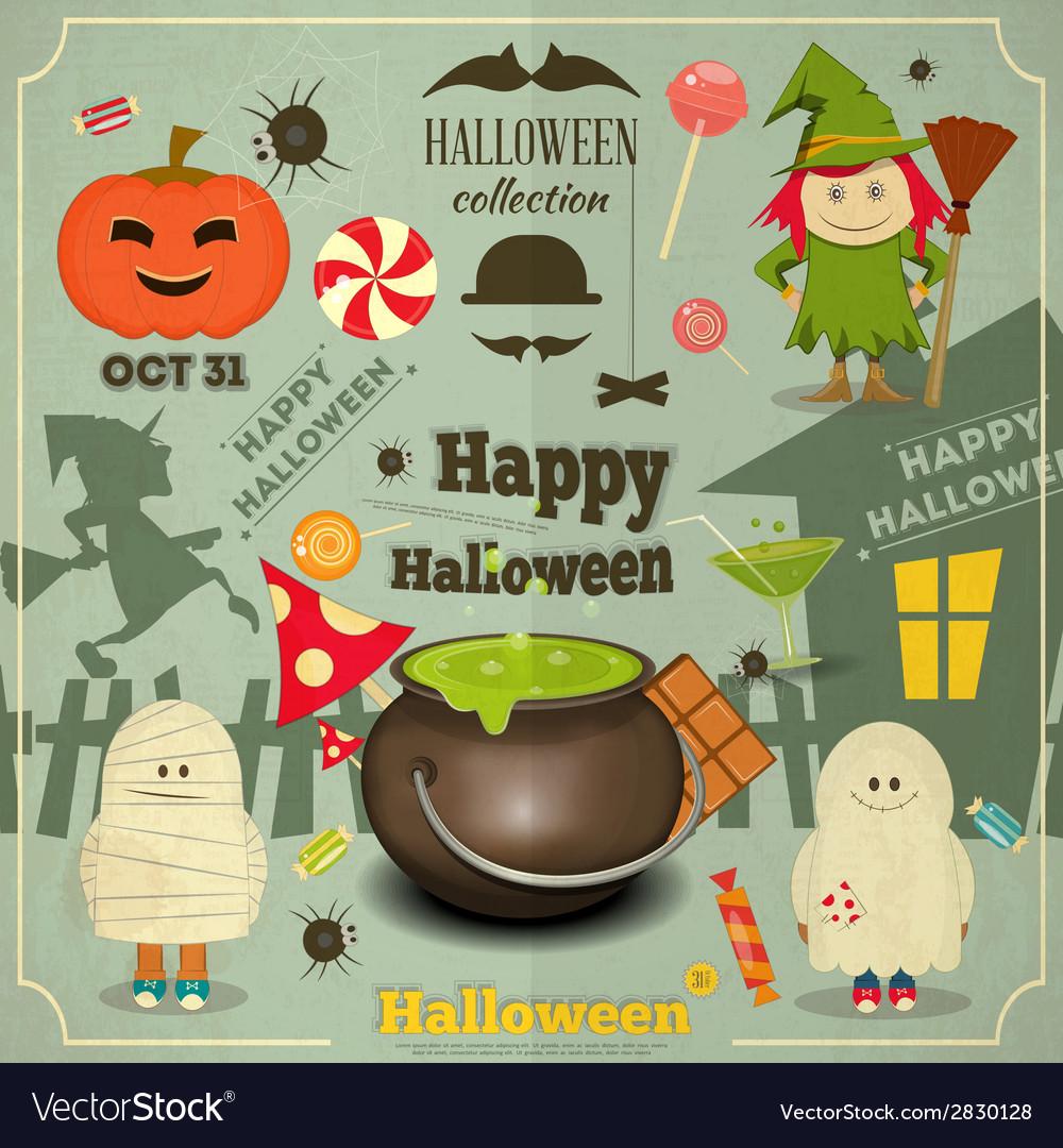 Halloween card vector | Price: 1 Credit (USD $1)