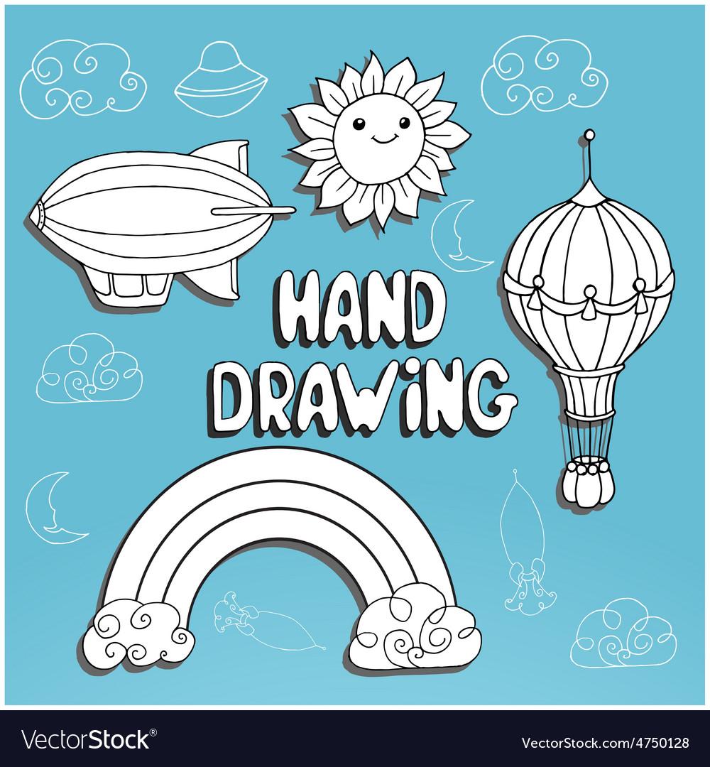 Kid drawing set vector | Price: 1 Credit (USD $1)