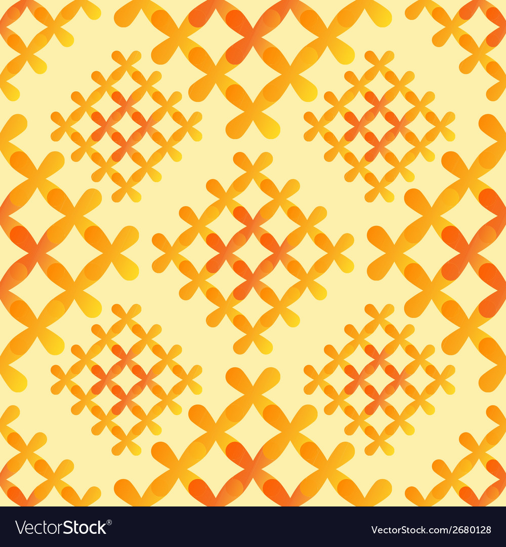 Orange crosses seamless pattern - abstract vector | Price: 1 Credit (USD $1)