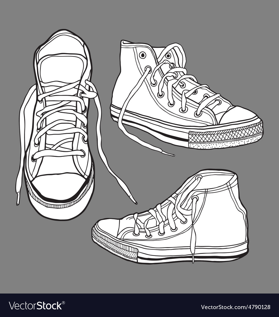 Sneaker shoes vector | Price: 1 Credit (USD $1)
