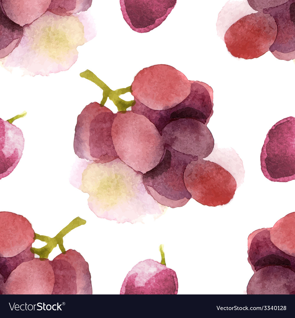 Watercolor grapes seamless vector | Price: 1 Credit (USD $1)