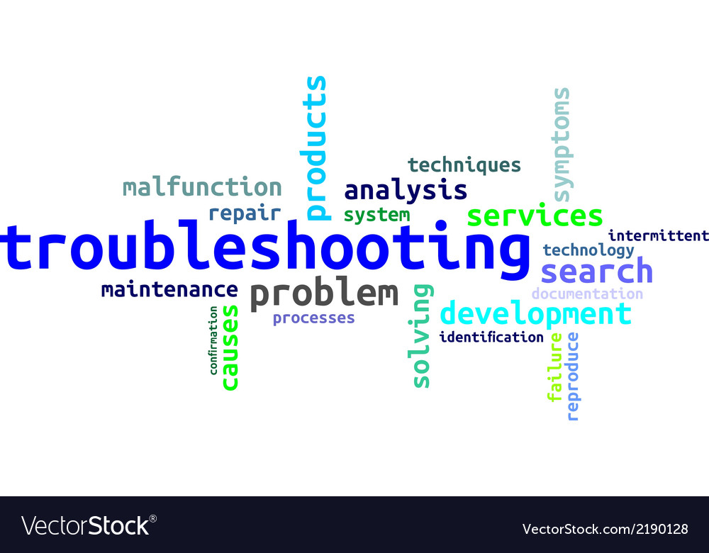 Word cloud troubleshooting vector | Price: 1 Credit (USD $1)