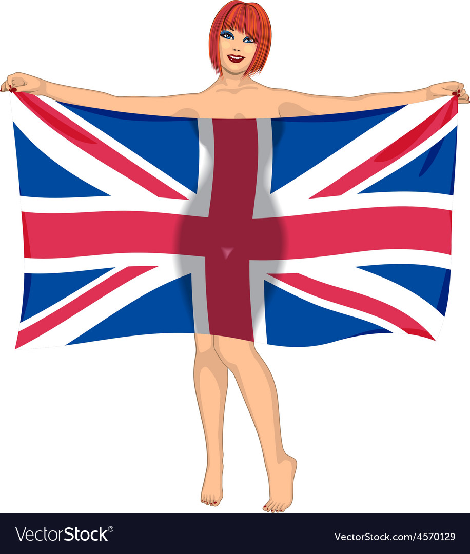 Buttock with flag vector