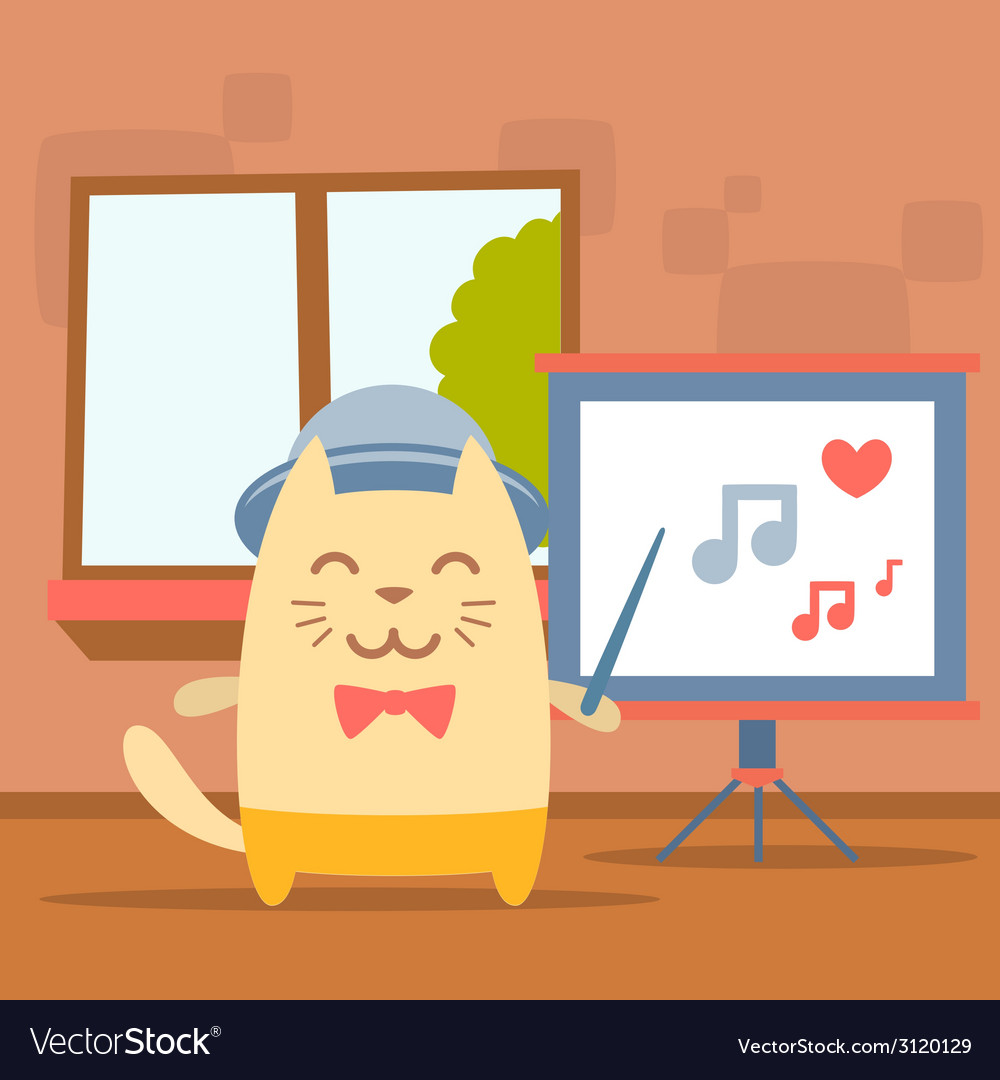 Character musician in costume hat and bow tie vector | Price: 1 Credit (USD $1)