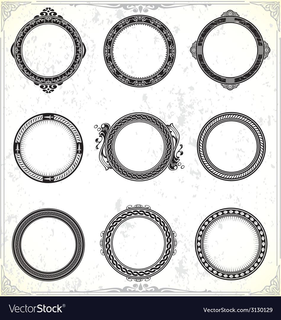Classic round ornament vector | Price: 1 Credit (USD $1)