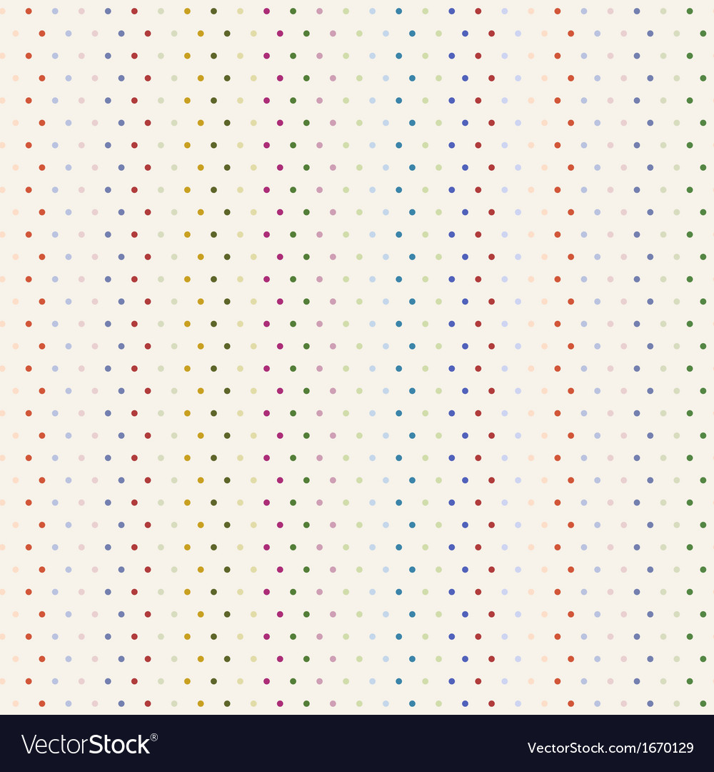 Colorful polka dot seamless background vector | Price: 1 Credit (USD $1)