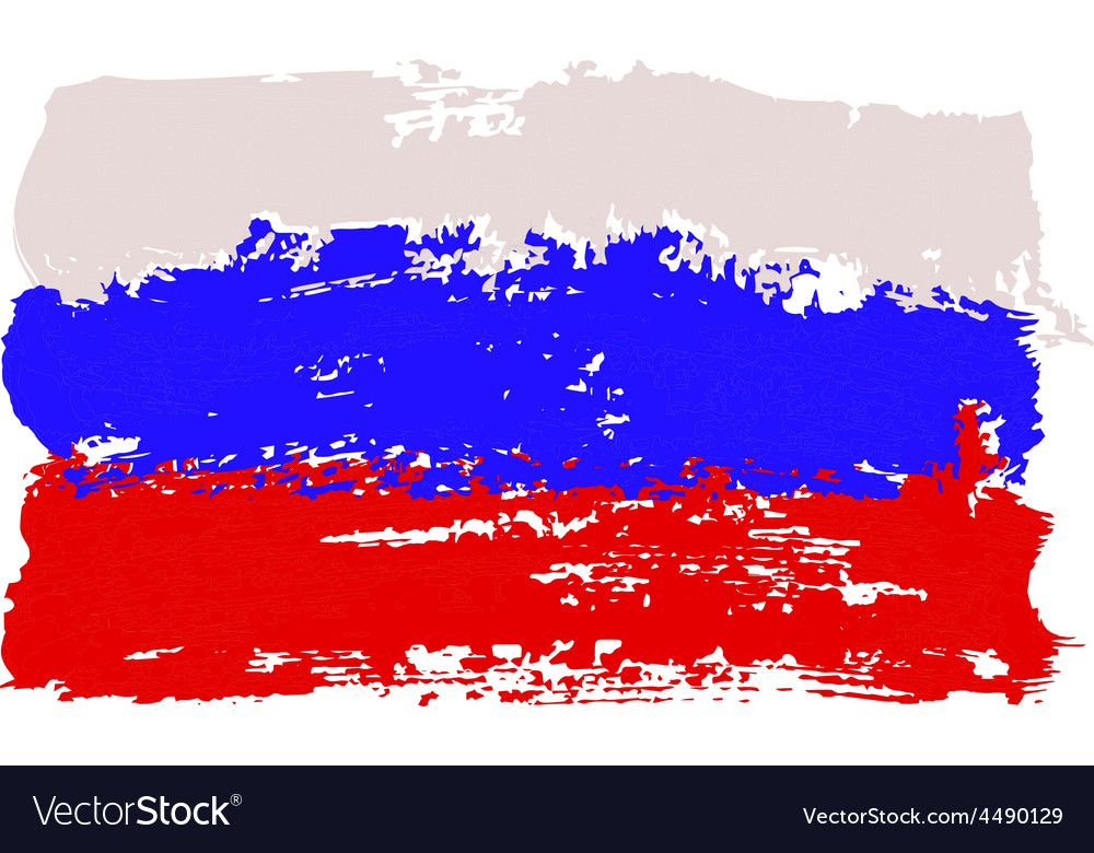 Flag painted by brush hand paints vector | Price: 1 Credit (USD $1)