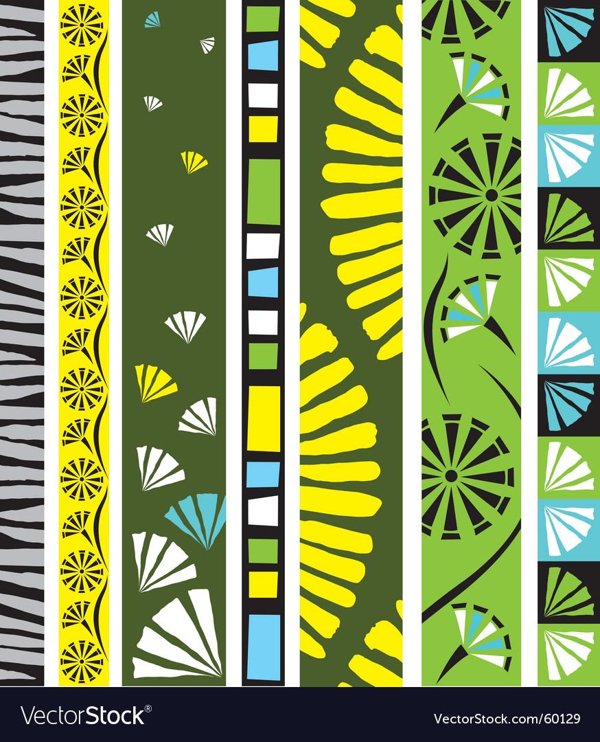 Floral design border vector | Price: 1 Credit (USD $1)