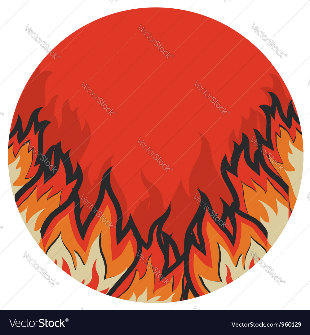 Grunge fire label vector | Price: 1 Credit (USD $1)