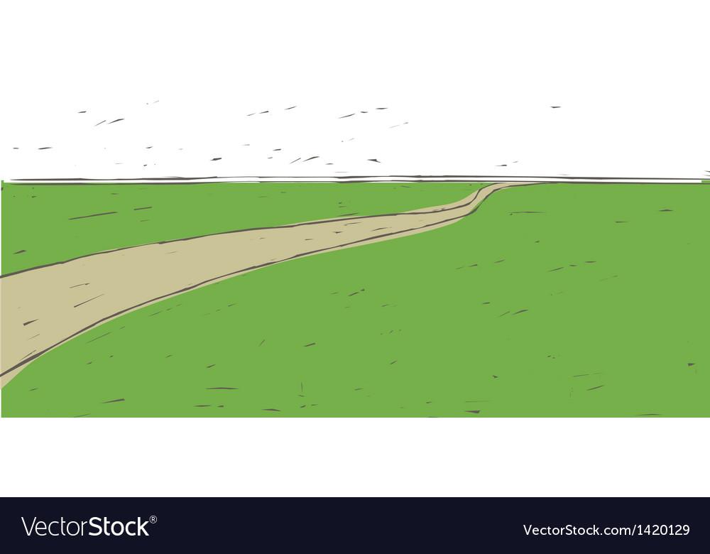 Idyllic landscape background vector | Price: 1 Credit (USD $1)