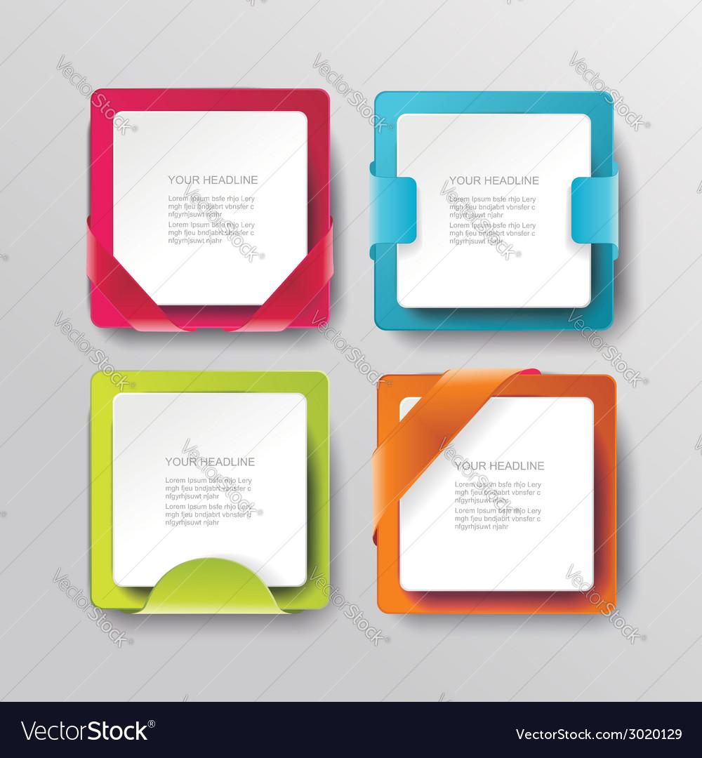 Modern banners or frames element design plastic vector | Price: 1 Credit (USD $1)