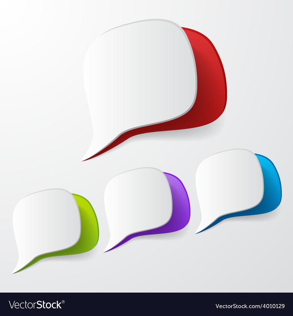 Paper speech bubbles vector   Price: 1 Credit (USD $1)