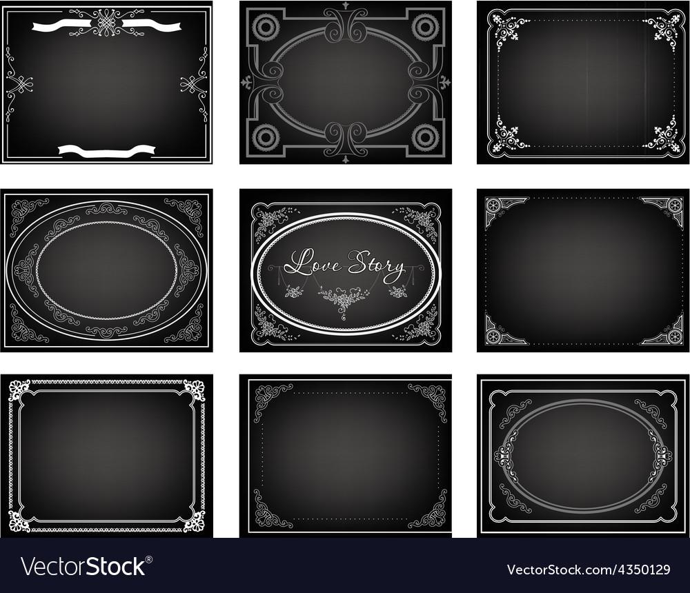 Set old movie frames vector | Price: 1 Credit (USD $1)