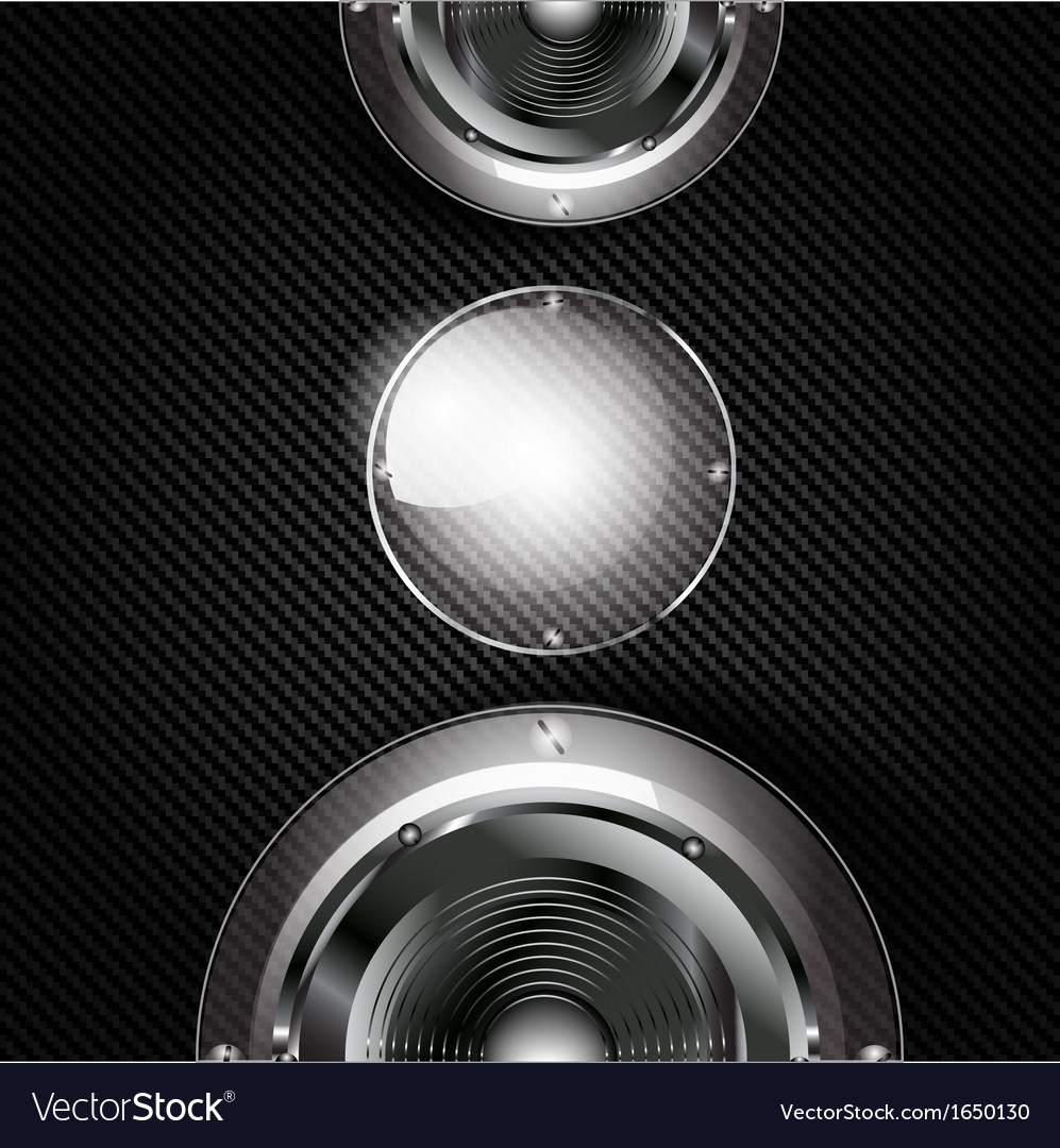 Abstract musical background with carbon texture vector   Price: 1 Credit (USD $1)