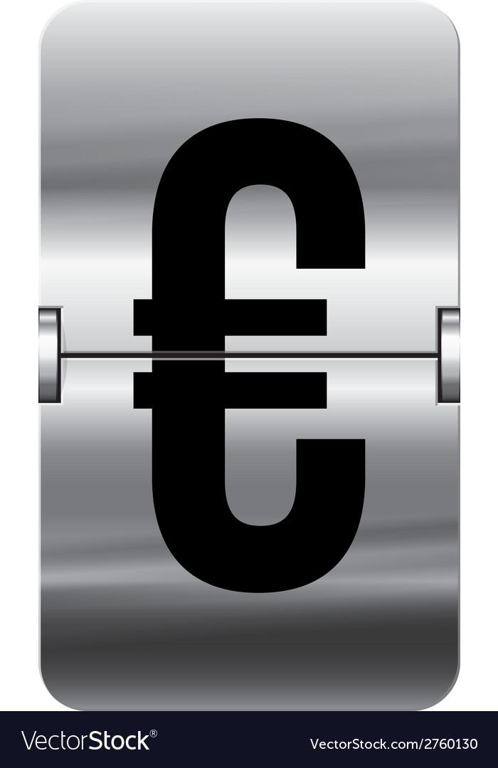 Alphabet silver flipboard letters euro vector | Price: 1 Credit (USD $1)