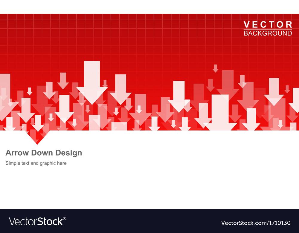 Arrow down vector | Price: 1 Credit (USD $1)