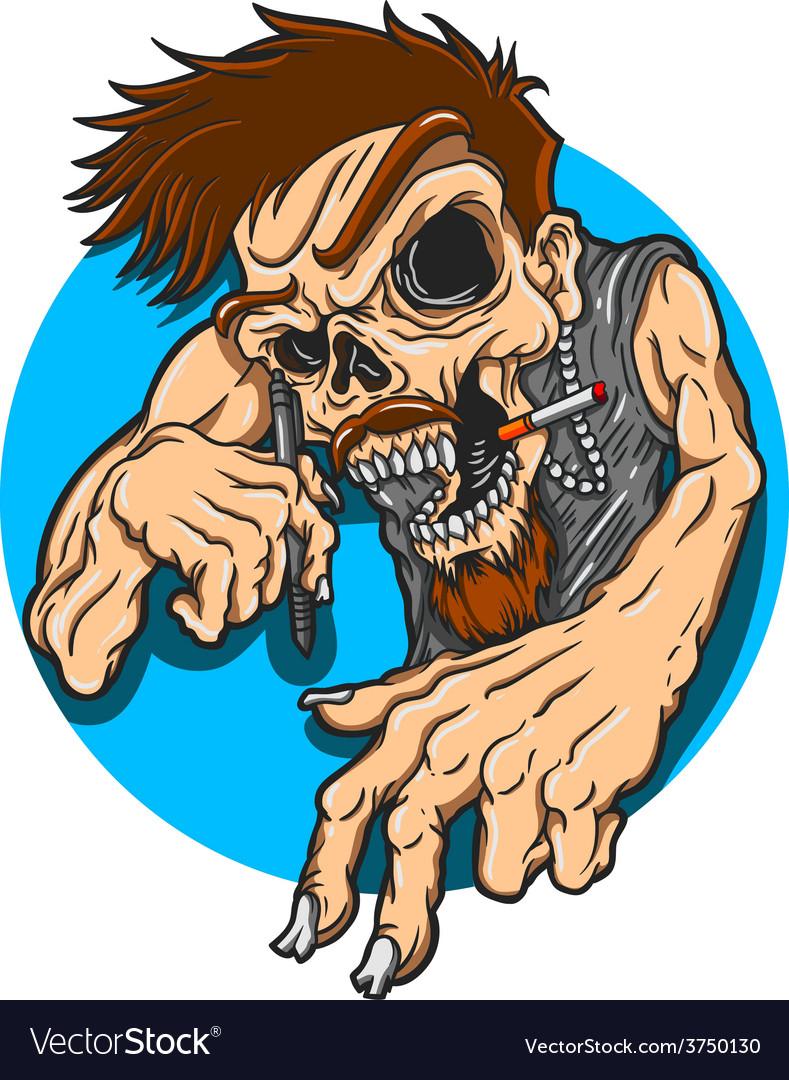Artist skull vector   Price: 3 Credit (USD $3)