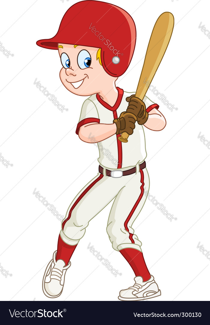 Baseball kid vector | Price: 1 Credit (USD $1)