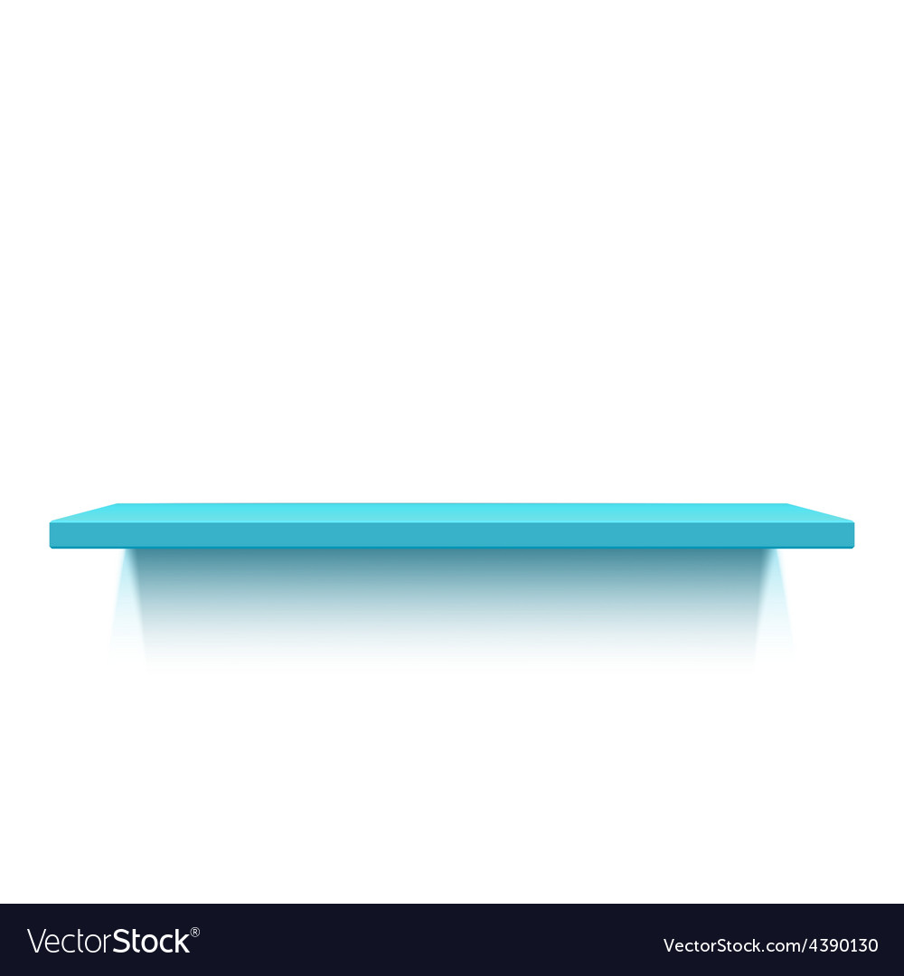 Blue realistic shelf isolated on white background vector | Price: 1 Credit (USD $1)