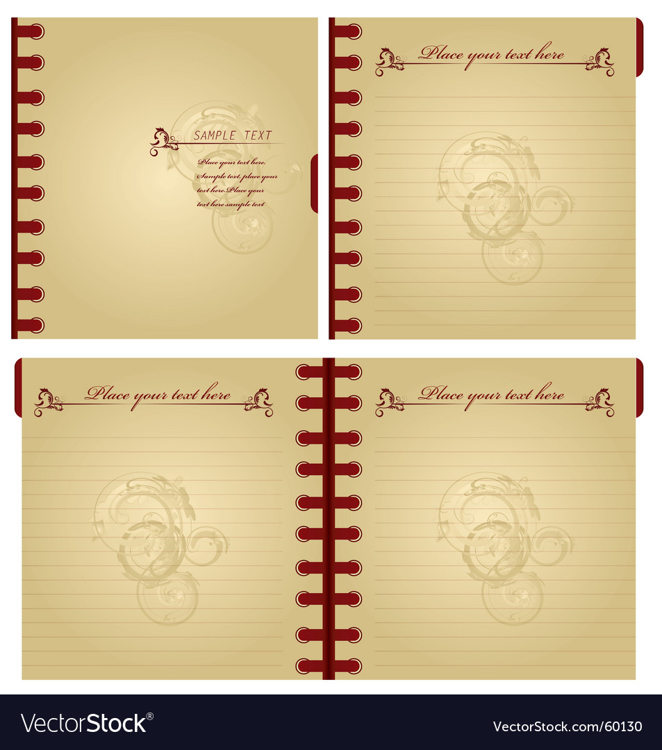 Classic notebook vector | Price: 1 Credit (USD $1)