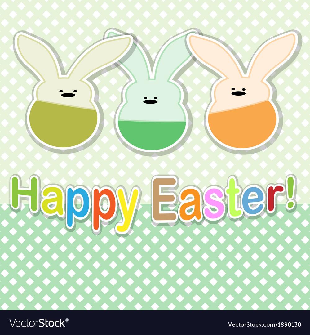 Easter rabbit vector   Price: 1 Credit (USD $1)