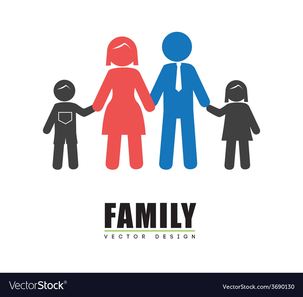 Family design over white background vector | Price: 1 Credit (USD $1)