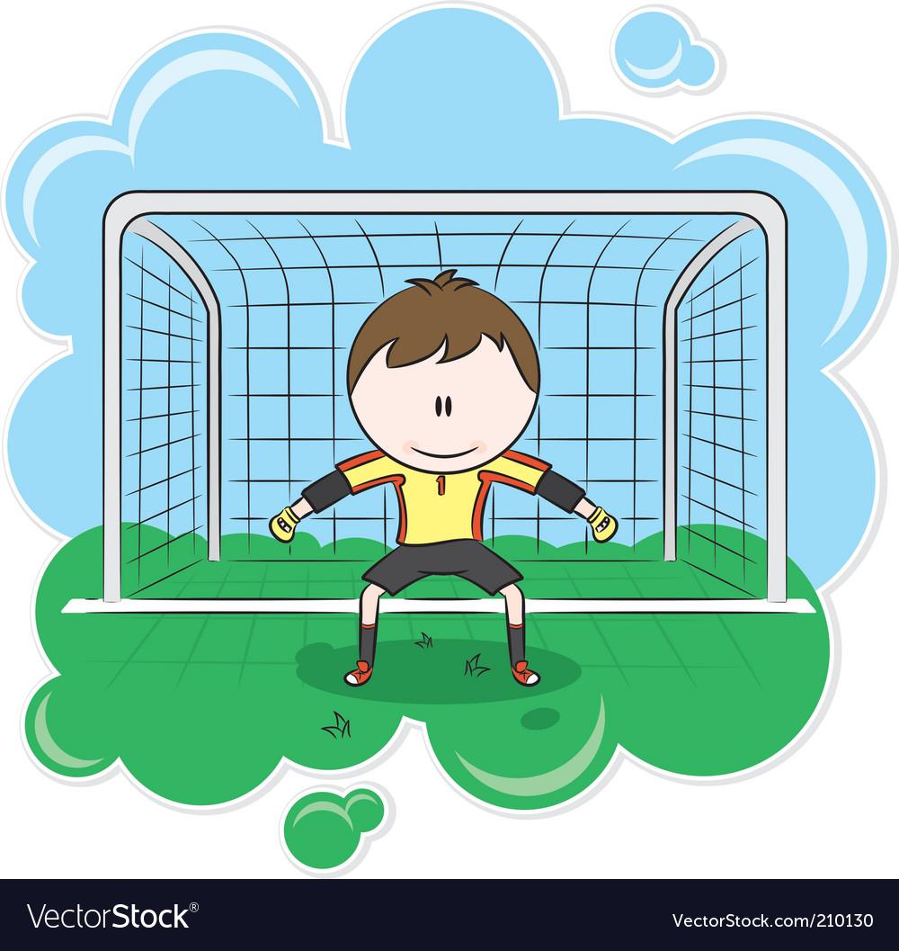 Goalkeeper vector | Price: 3 Credit (USD $3)