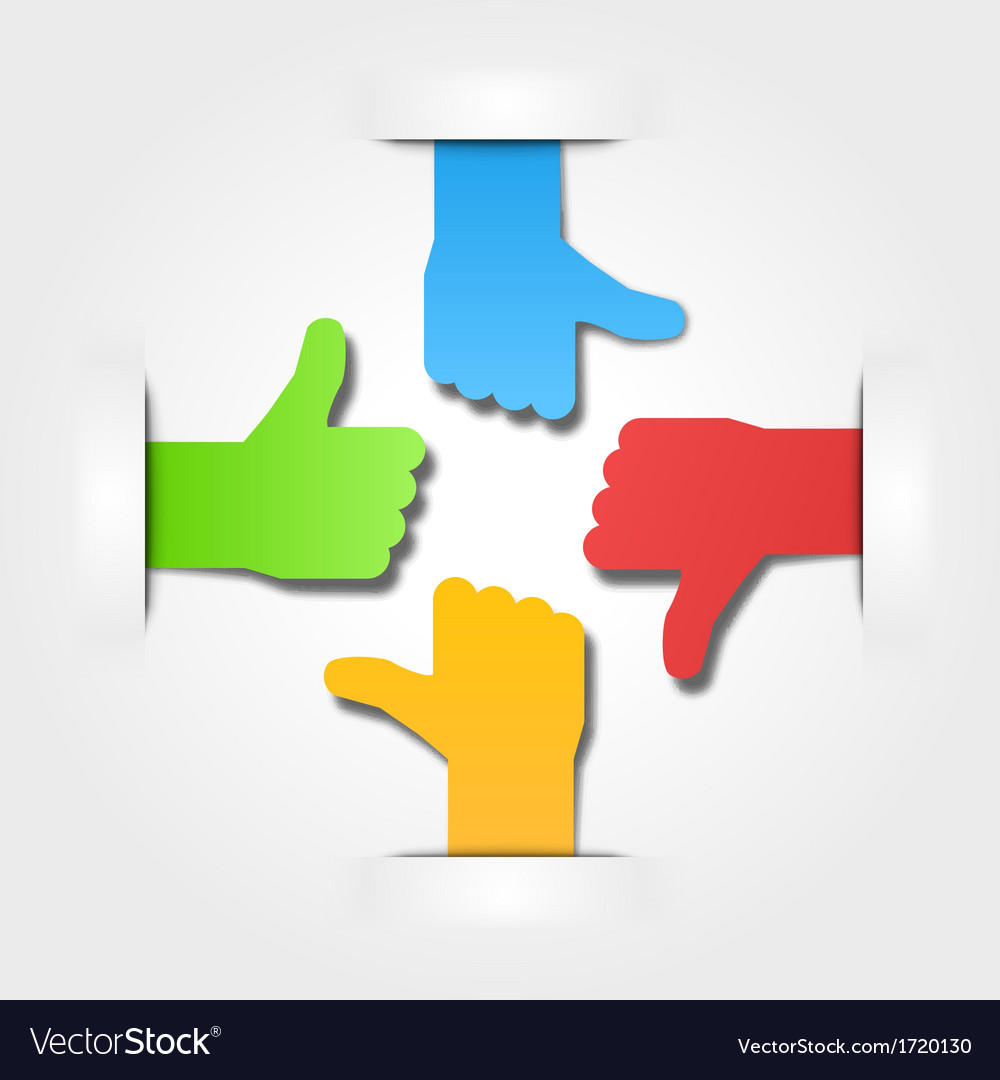 International thumbs of team background vector | Price: 1 Credit (USD $1)
