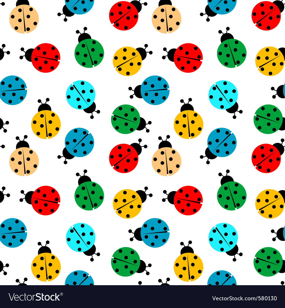 Ladybug seamless vector | Price: 1 Credit (USD $1)