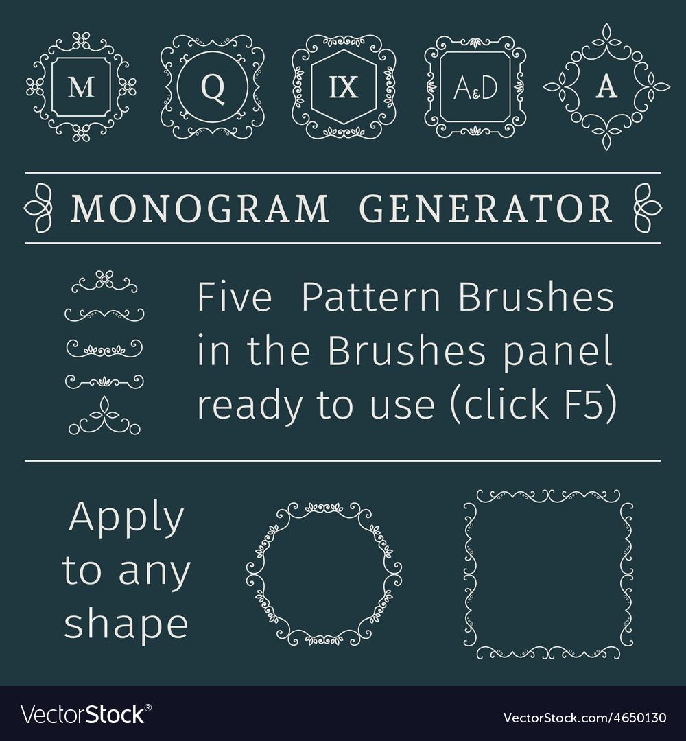 Monogram generator vector | Price: 1 Credit (USD $1)