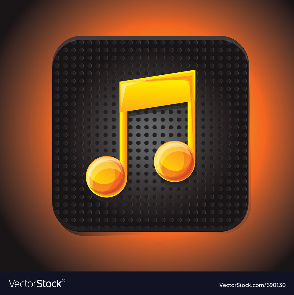 Music app icon vector | Price: 1 Credit (USD $1)