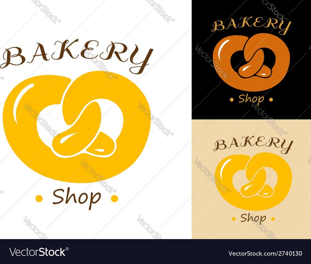 Pretzel bakery emblem vector   Price: 1 Credit (USD $1)