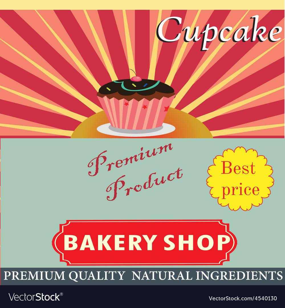 Retro style bakery vector   Price: 1 Credit (USD $1)