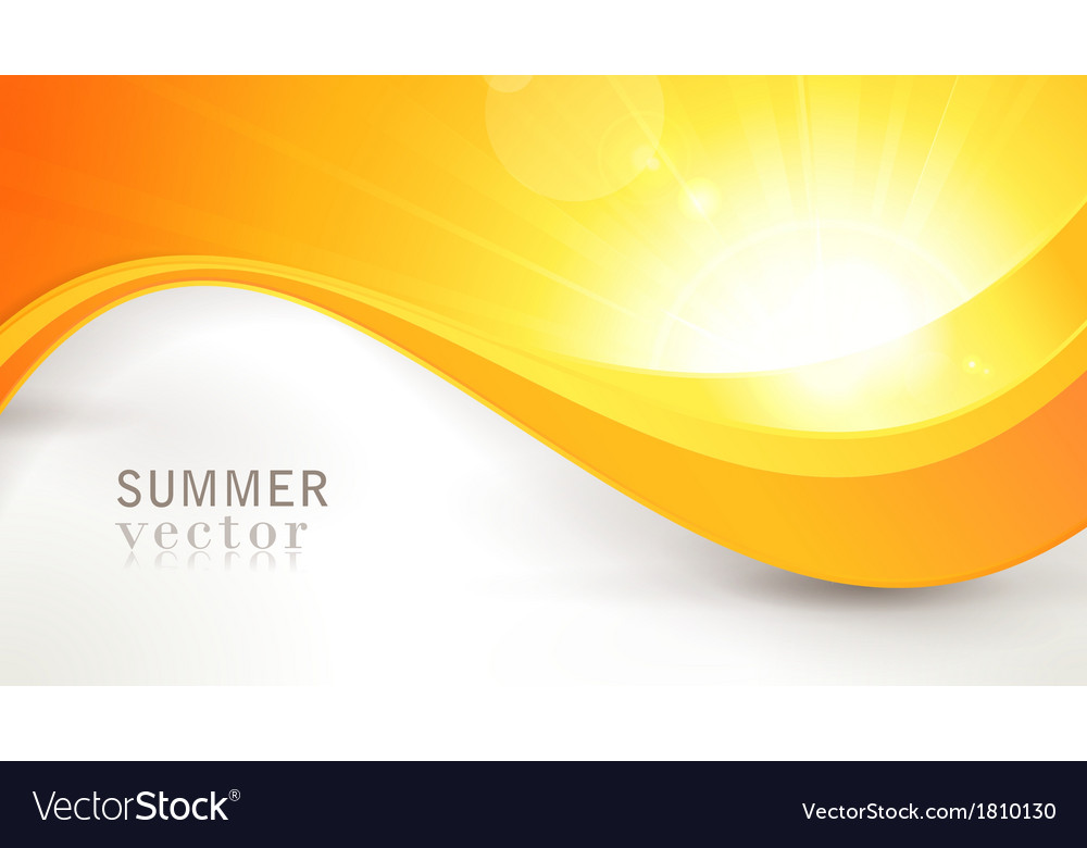 Summer sun with wavy pattern and lens flare vector | Price: 1 Credit (USD $1)