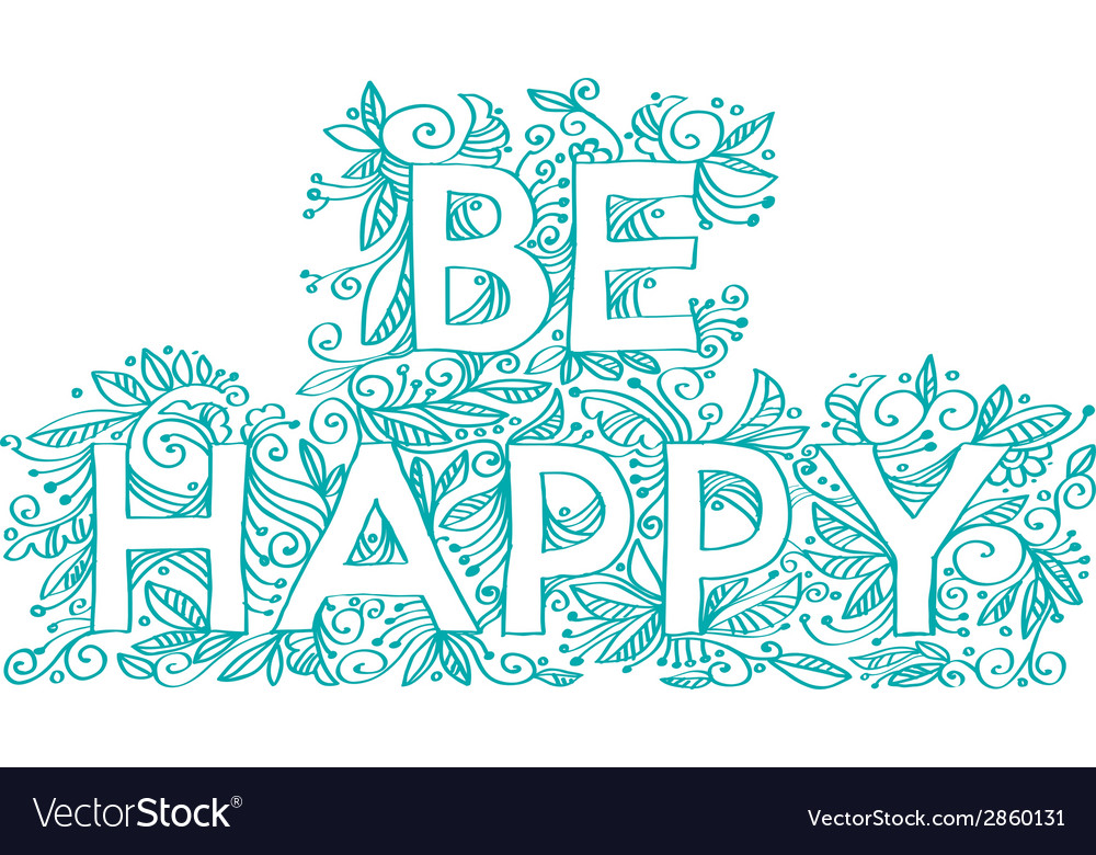 Be happy vector | Price: 1 Credit (USD $1)
