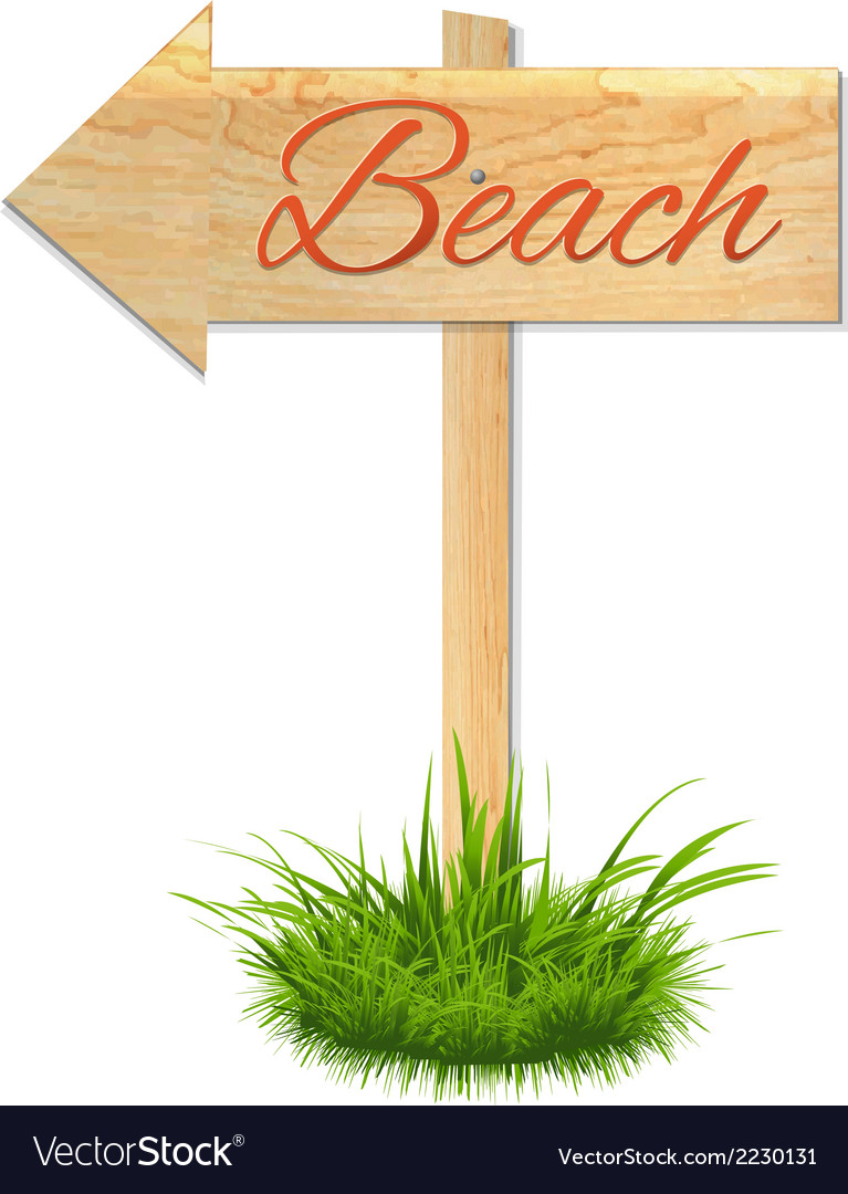 Beach wooden board vector | Price: 1 Credit (USD $1)