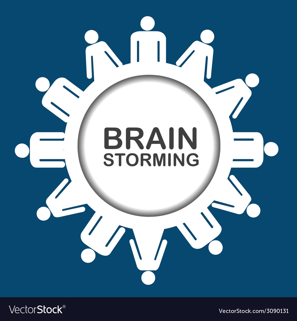 Brainstorming icon vector | Price: 1 Credit (USD $1)