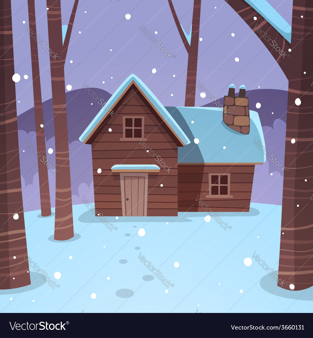 Cabin in woods vector | Price: 3 Credit (USD $3)