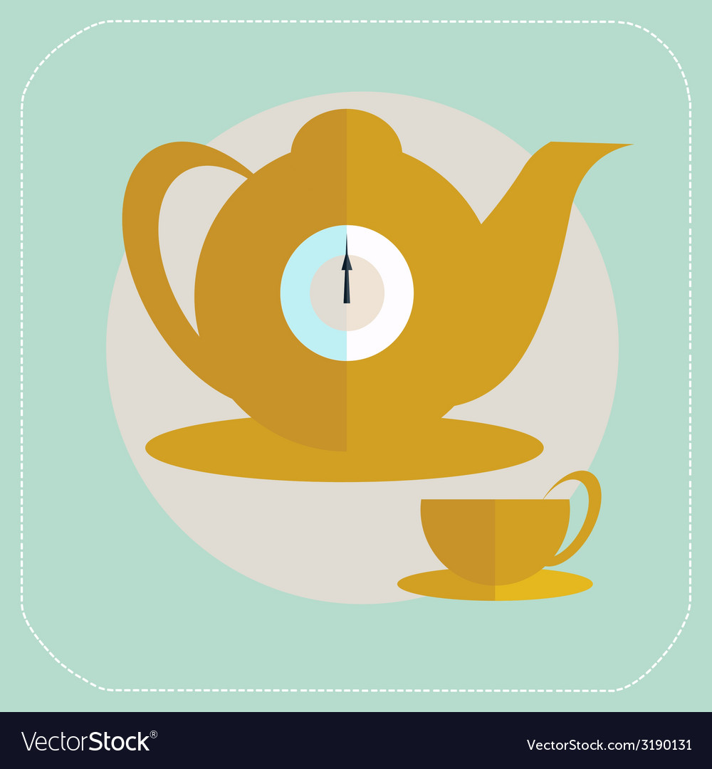 Cup of tea flat icon vector | Price: 1 Credit (USD $1)