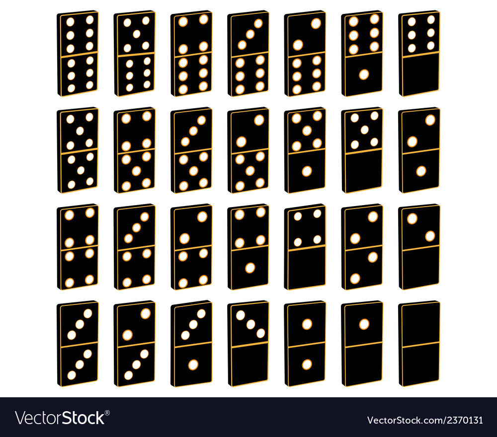Domino vector | Price: 1 Credit (USD $1)