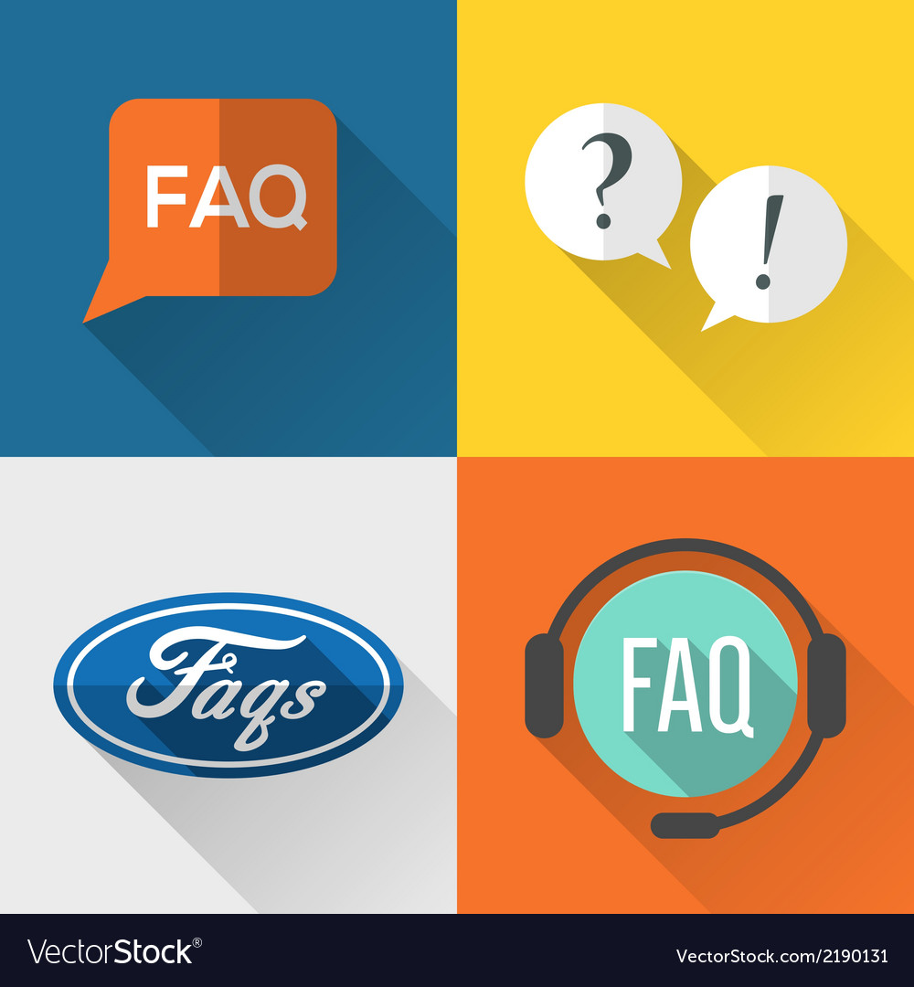 Faq icons vector | Price: 1 Credit (USD $1)