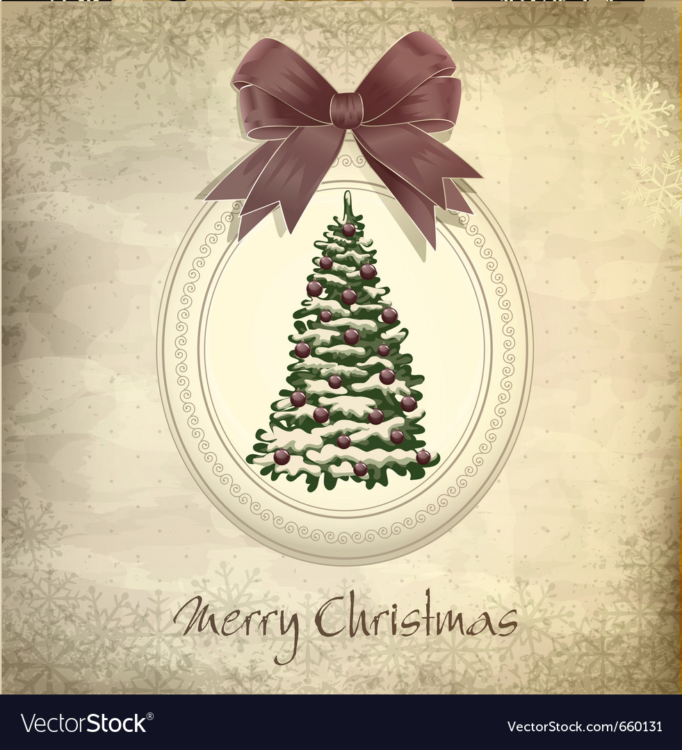 Holiday vintage christmas background vector | Price: 1 Credit (USD $1)
