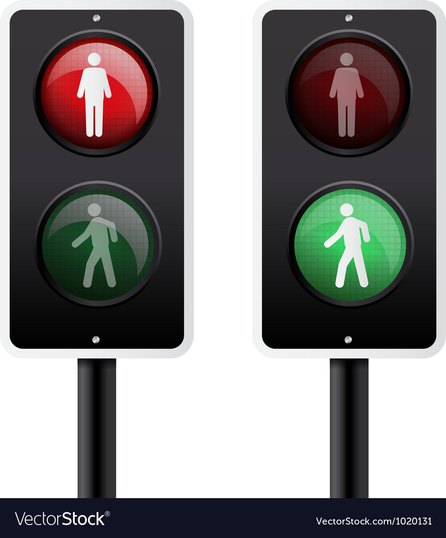 Isolated traffic light vector | Price: 1 Credit (USD $1)