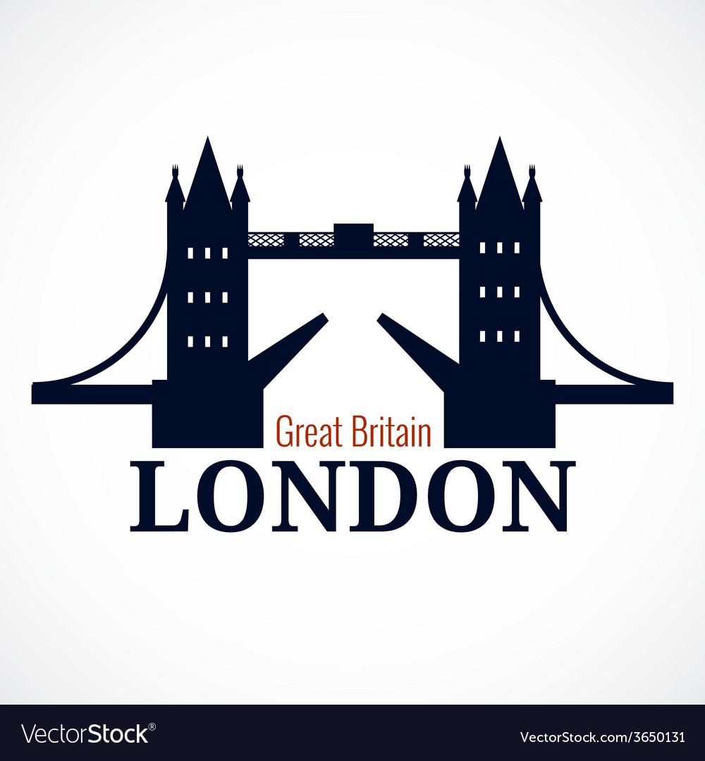 London bridge logo vector | Price: 1 Credit (USD $1)