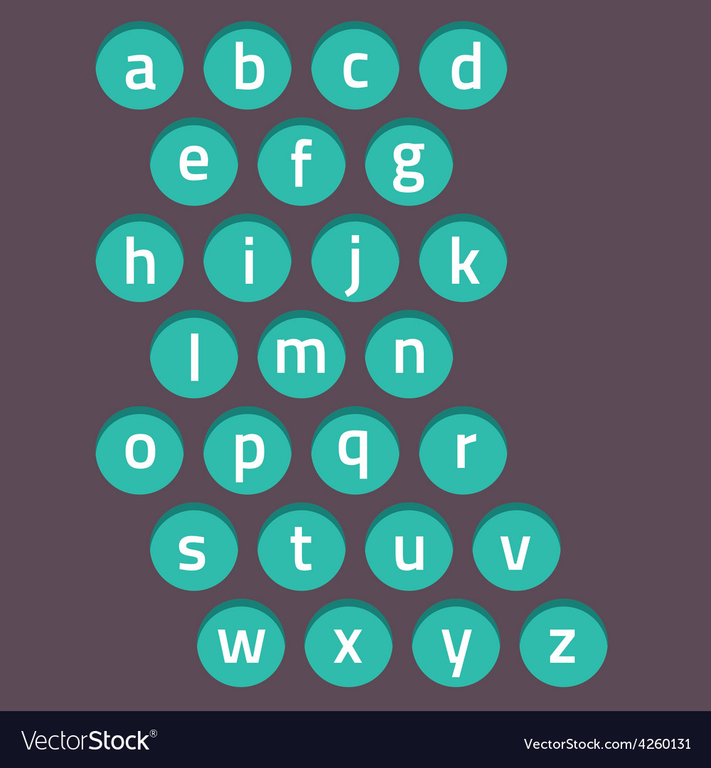 Modern style alphabets set vector | Price: 1 Credit (USD $1)