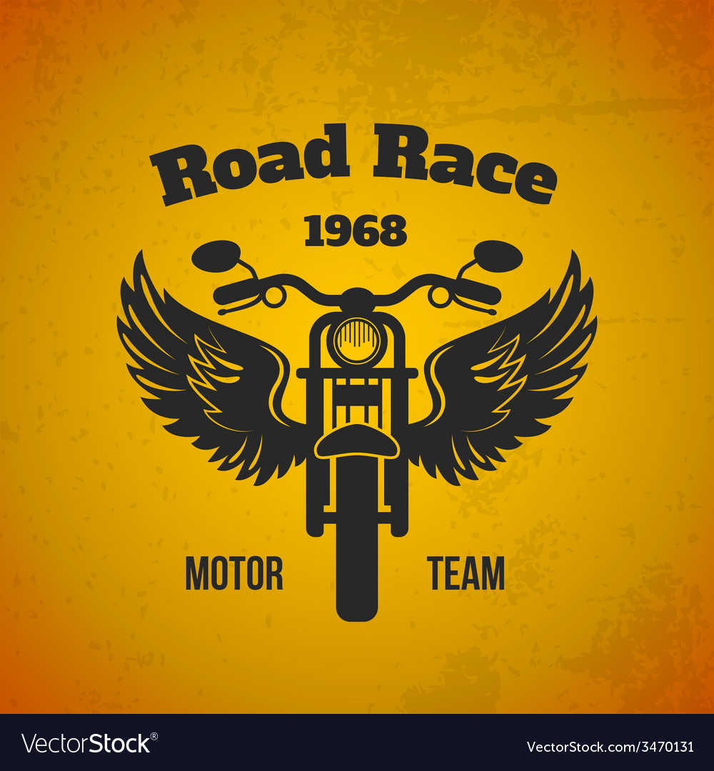 Moto wings poster vector | Price: 1 Credit (USD $1)