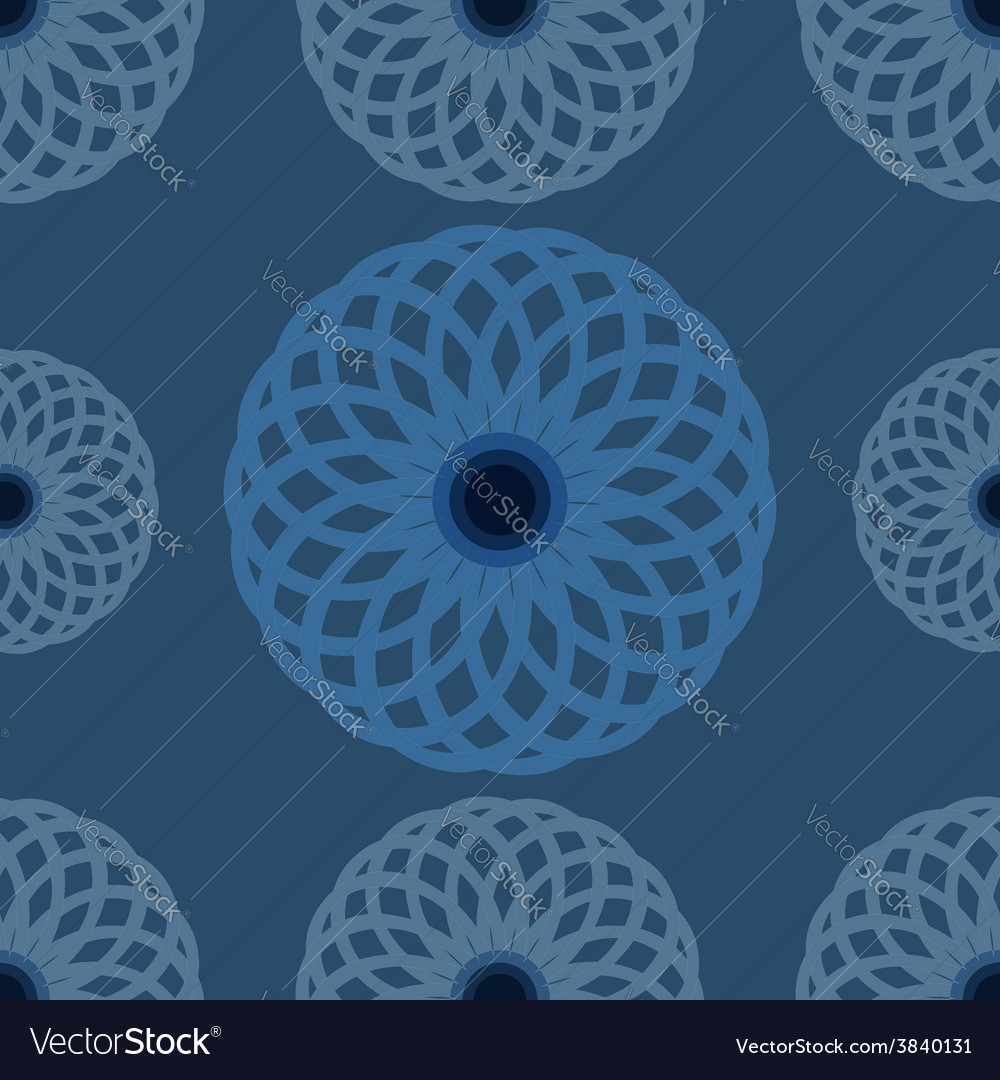 Seamless pattern blue floral design and background vector | Price: 1 Credit (USD $1)