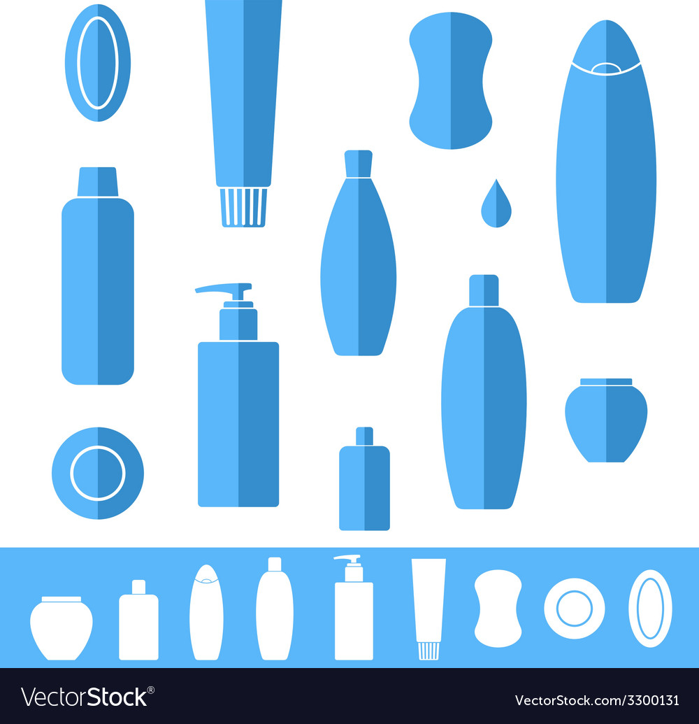 Shampoo soap icon set vector | Price: 1 Credit (USD $1)